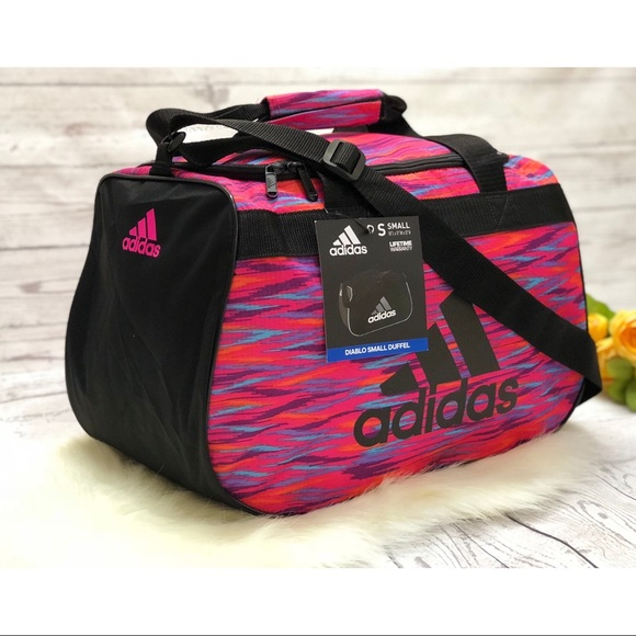 d0ca2129ca Pink adidas Diablo small duffel Athletic gym bag
